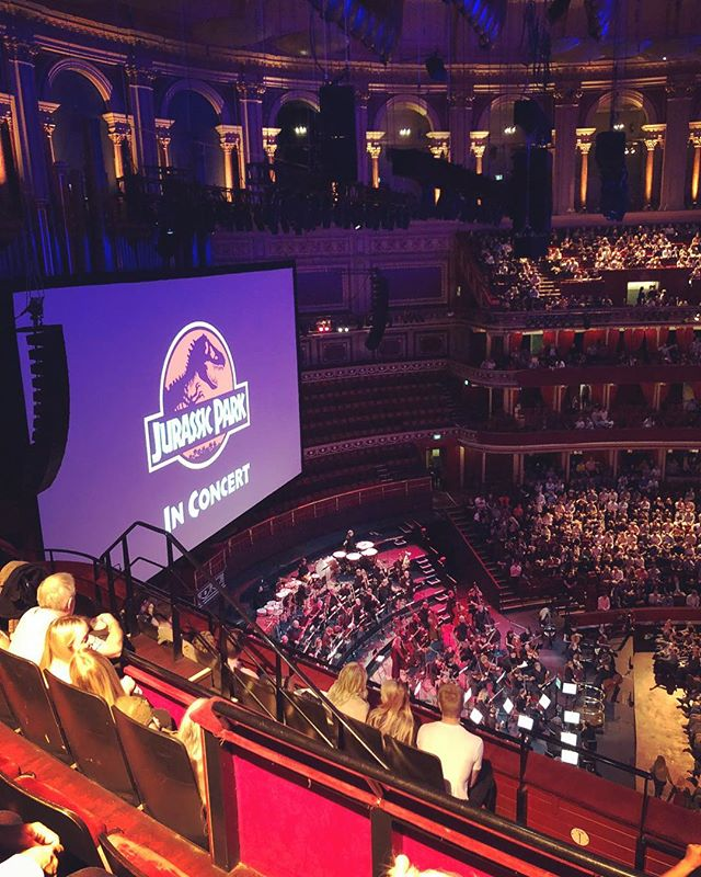 A bit of John Williams and Spielberg's Jurassic Park at the @royalalberthall to end a very tiring week.