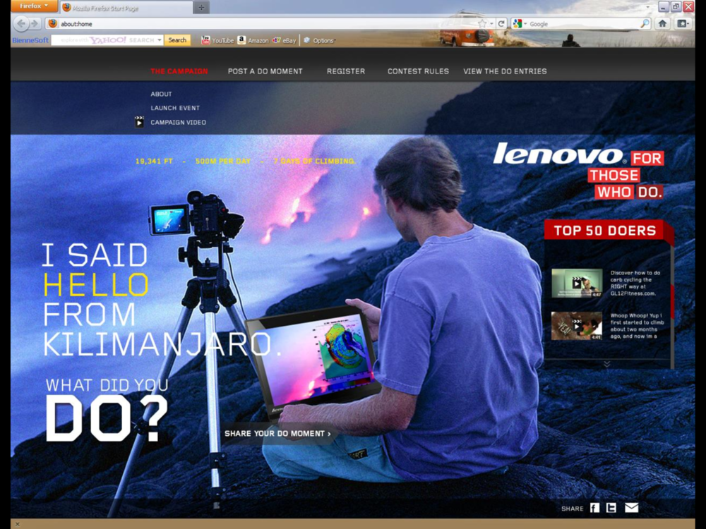 Lenovo Do Moment Web Campaign
