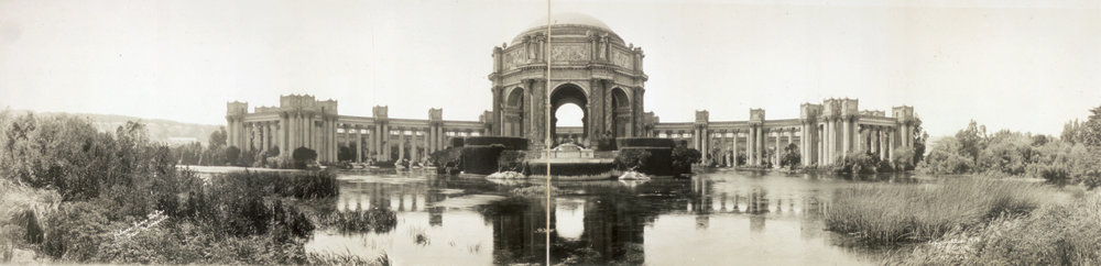 Panoramic view Palace of Fine Arts: 1919 Library of Congress photo