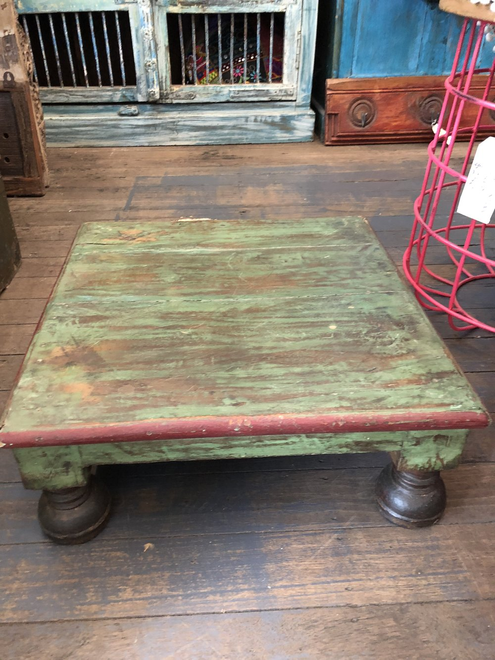 Low rise indian coffee table