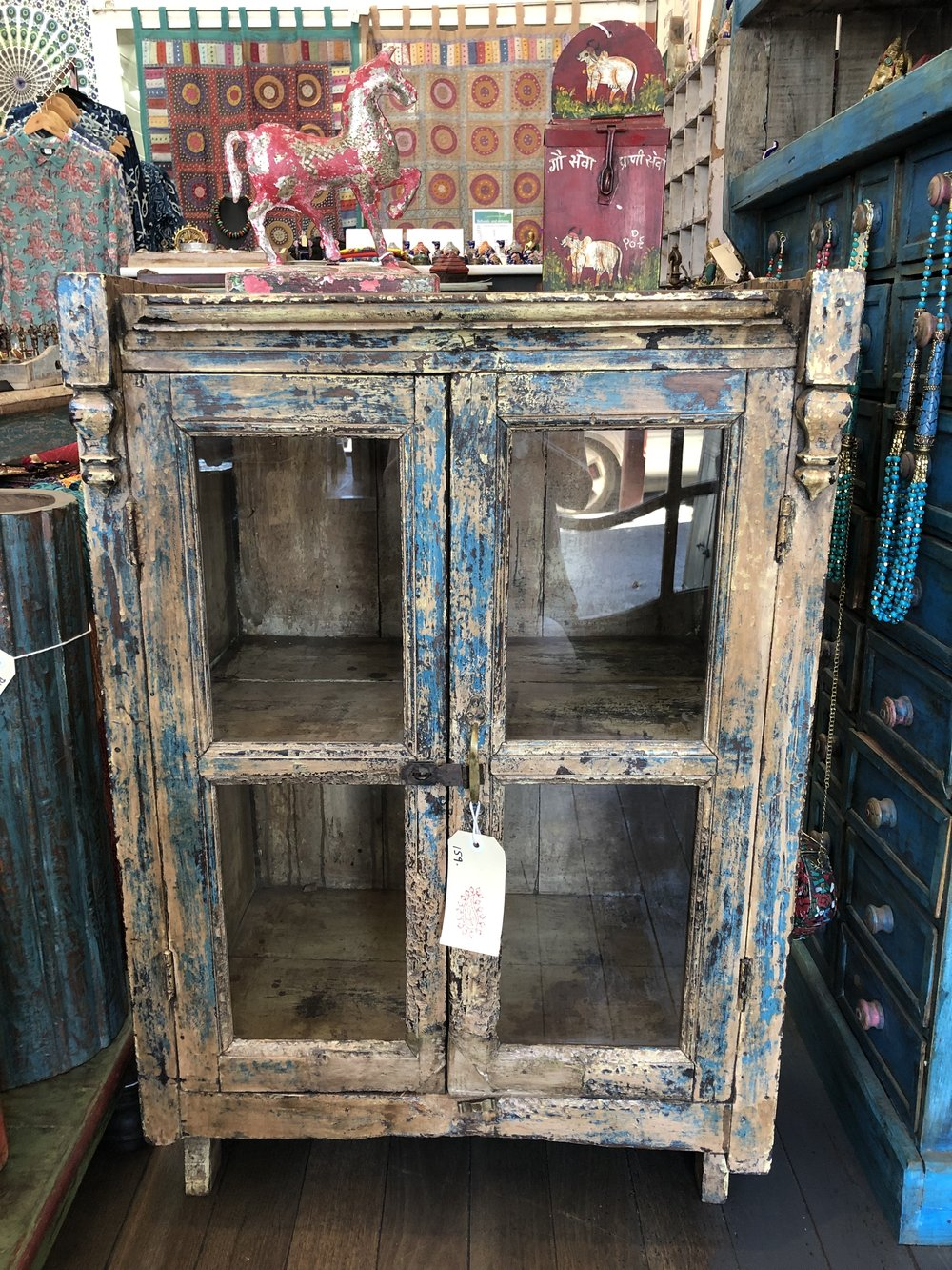 Antique Cabinet With Glass Doors Shanti Devi