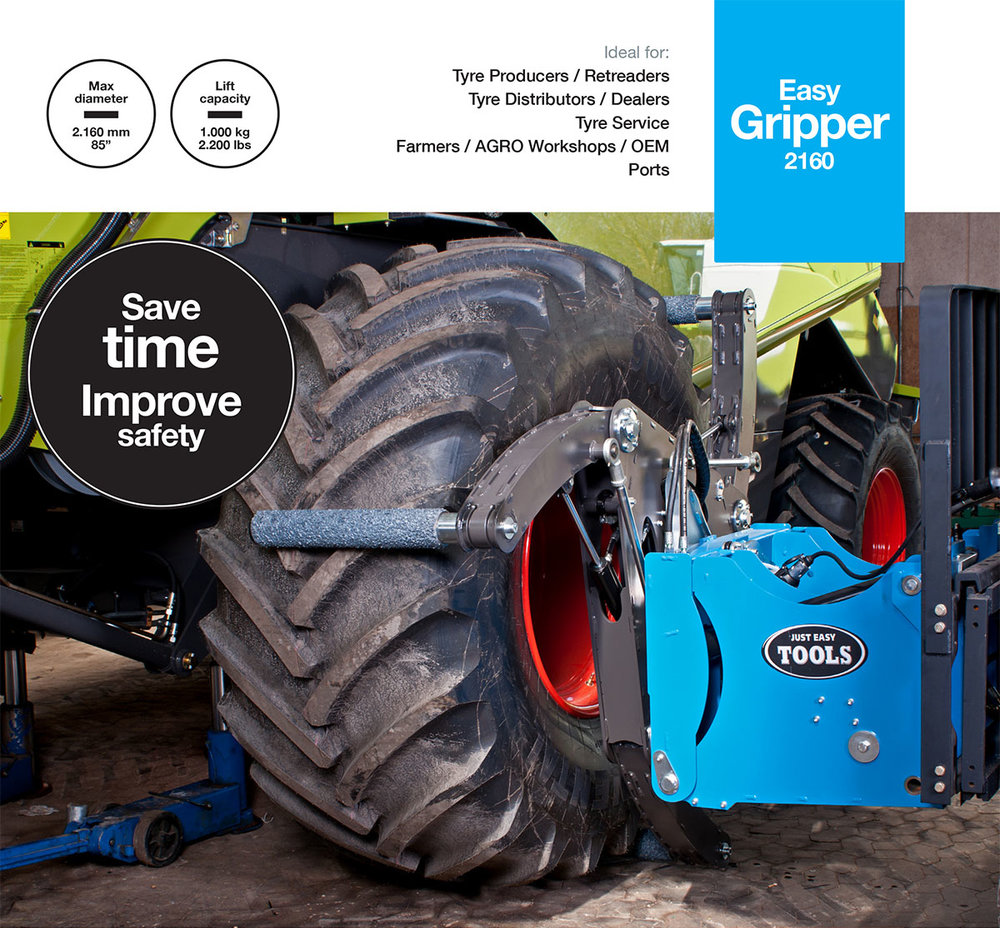 Easy Gripper2160 - Professional tools for handling of AGRO tyres and small OTR.