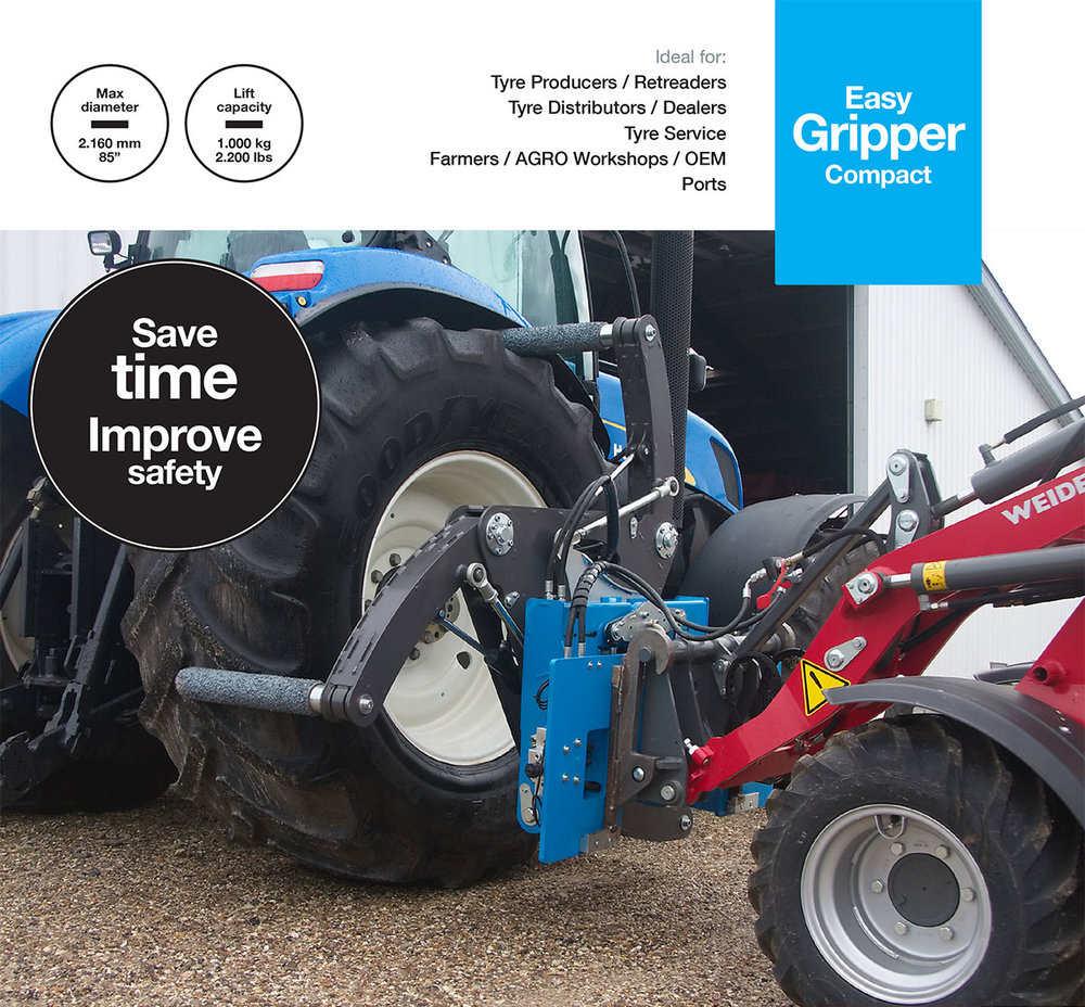 Easy GripperCompact  - Professional tools for handling of AGRO tyres and small OTR.