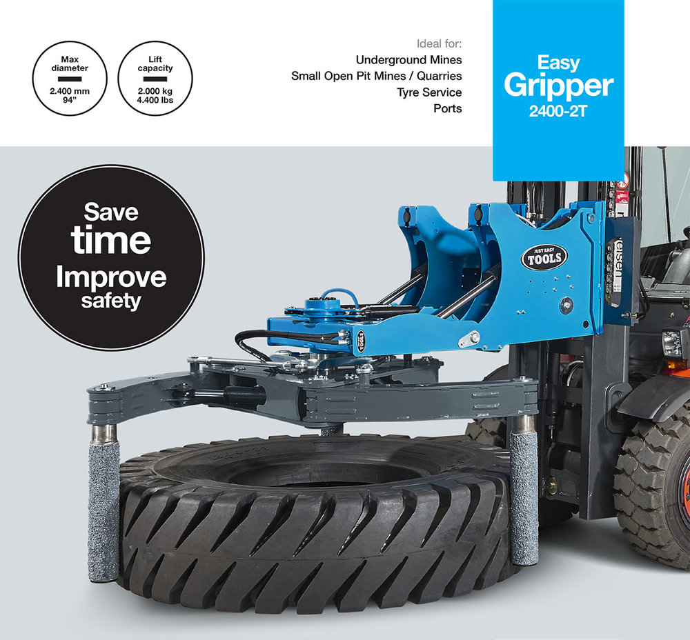 Easy Gripper2400-2T  - Professional tools for handling of OTR/EM tyres up to 35