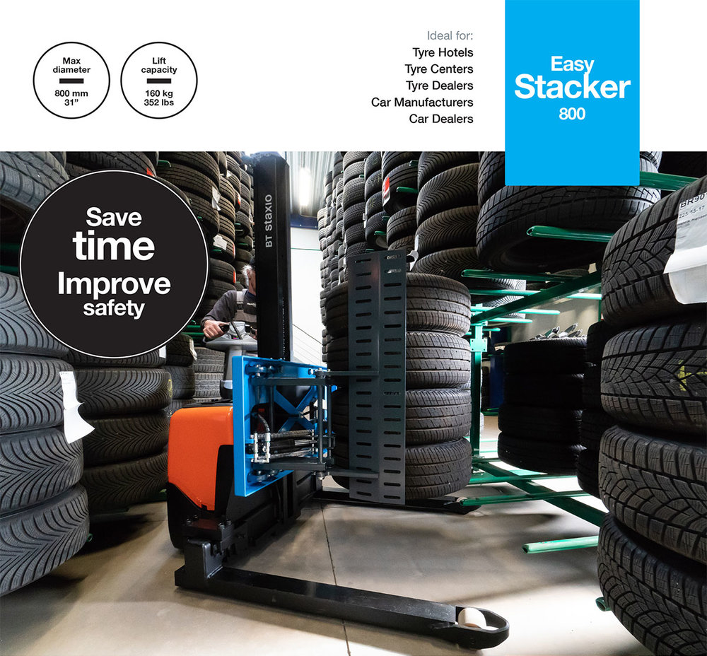 Easy Stacker800 - Professional tools for handling sets of car tyres