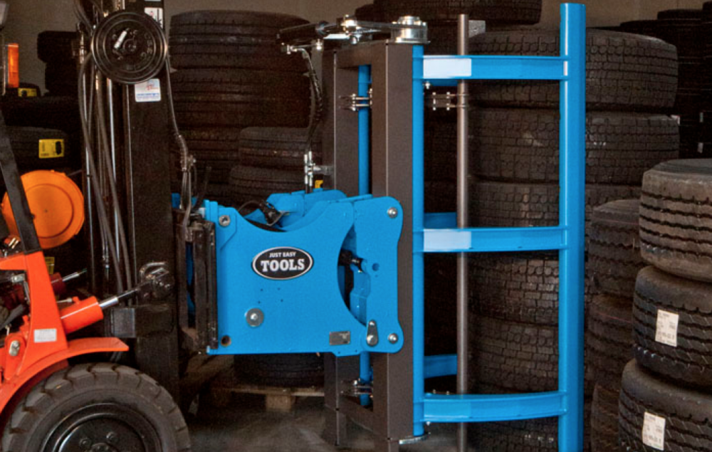 """""""Now they won ́t work without it!""""   Vulkan Dæk A/S started using the Easy Stacker in May 2012. Since then they have experienced increased efficiency of up to 25% as well as better working condition when handling Truck Tires."""