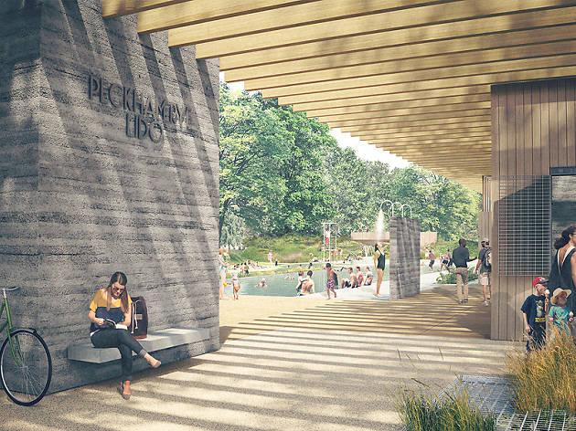 Proposed Peckham Lido on Peckham Rye