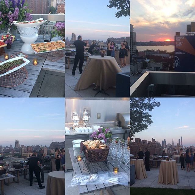 #tbt to a rooftop catered event overlooking New York City. Swipe right 👉🏻 to see from our set up to the service itself. Happy clients, always! #womanentrepreneur #caterer #eventcaterer #parties #newyork #nyc #newjersey #jerseyshore #chefslife #service #foodie #foodiesofinstagram #catering #wedding #corporate #corporateevents #dinners #cookingclass #maritalynncatering #mykitchenintuition