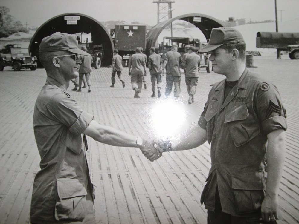 Getting Ready to Leave South Vietnam - U.S. Army Motor Pool - 1969