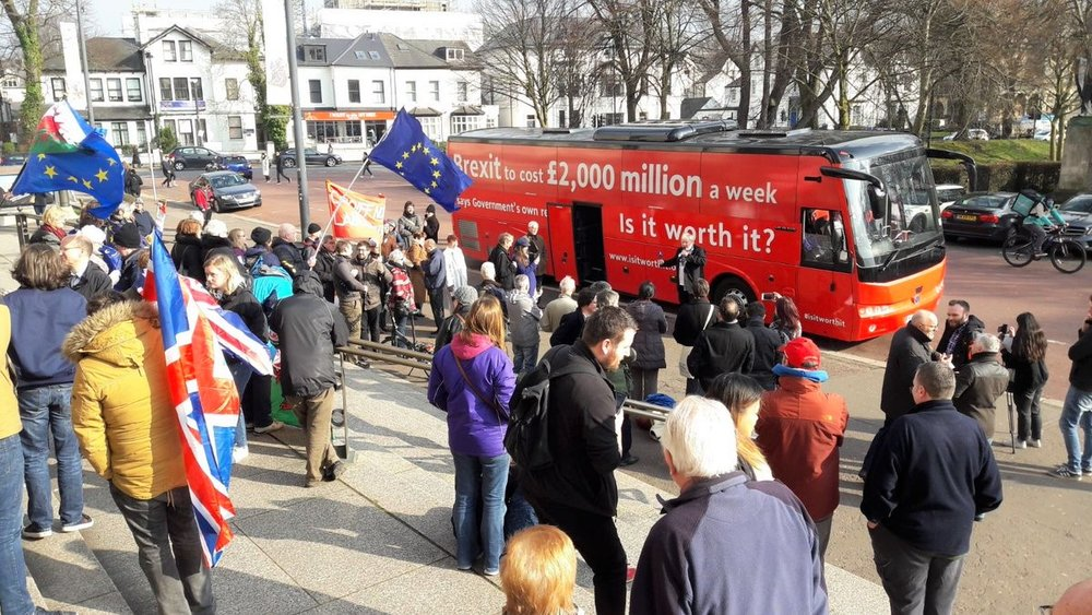 Our truth bus meets the crowds in Cardiff