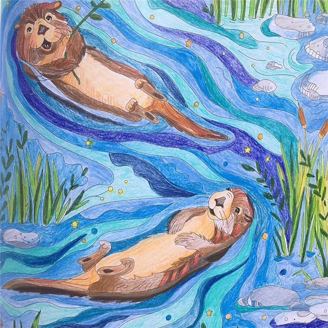 Happy Sunday Funday! Hope you're hanging with someone you love 💕 . . . . . #colorfulcoloradojournal #otter #ottersofinstagram #colorfulcolorado #colorado #colorful #adventure #coloringbook #coloring #illustration #artwork #colors #adultcoloring #instagood #artoftheday #creative #creativelife #art # instaart #journal #doodle #sketch