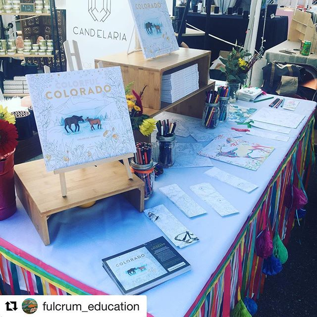 Come and color with us today at Renegade Craft in Denver! 1399 35th St.  #crafts #denver #colorado #books #coloring #outdoor #adventure #animals #family #friends