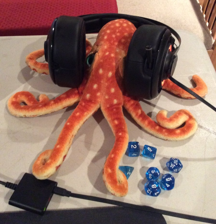 Corndog the Octopus is ready to record!