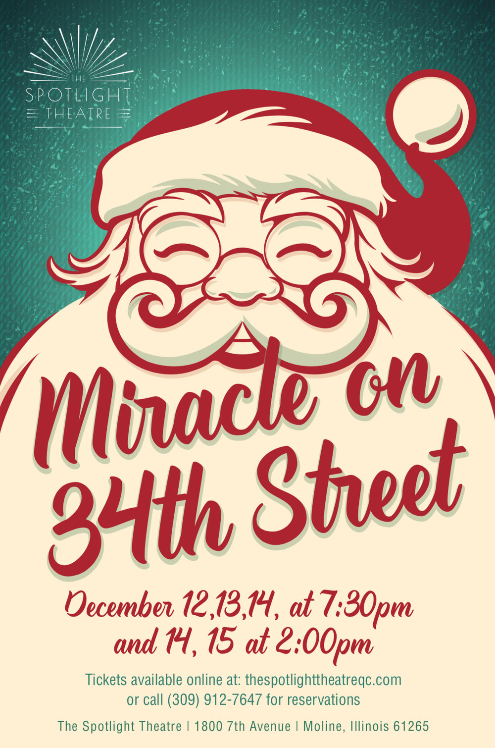 Miracle on 34th St The Musical - Performance Dates December 12- 15th 2019