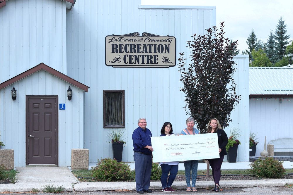 La Riviere and Community Recreation Association - Received $5,000 towards the installation of a multi-use concrete pad outside its community arena.
