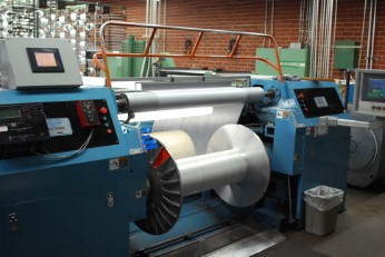 Our factory contains 4 tricot warpers, running full-size tricot beams.