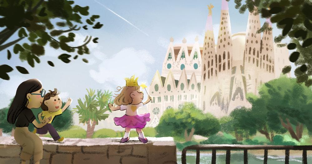 Barcelona, Spain by TA-DA! team artist Kelsey Suan
