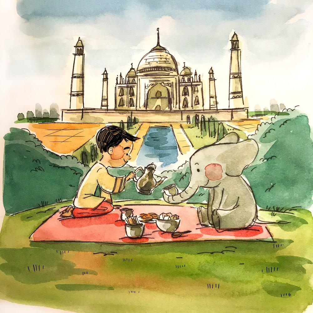 India by TA-DA! team artist Michelle Hiraishi