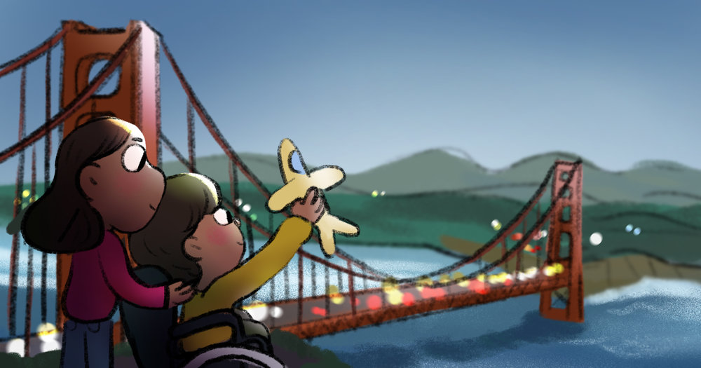 San Francisco, California USA by TA-DA! team artist Kelsey Suan