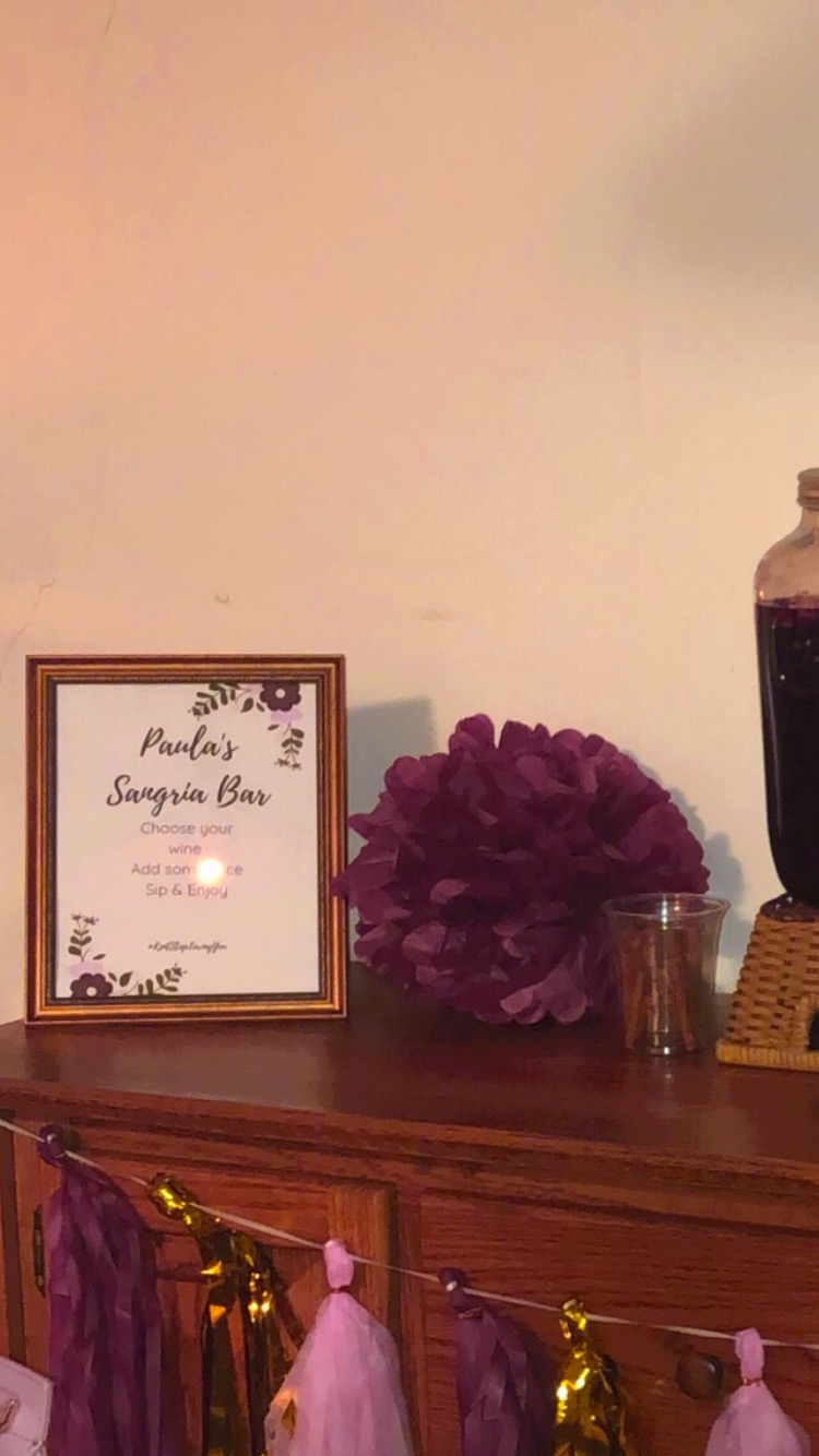 well with brielle wellwithbrielle.com bachelorette party sangria bar diy