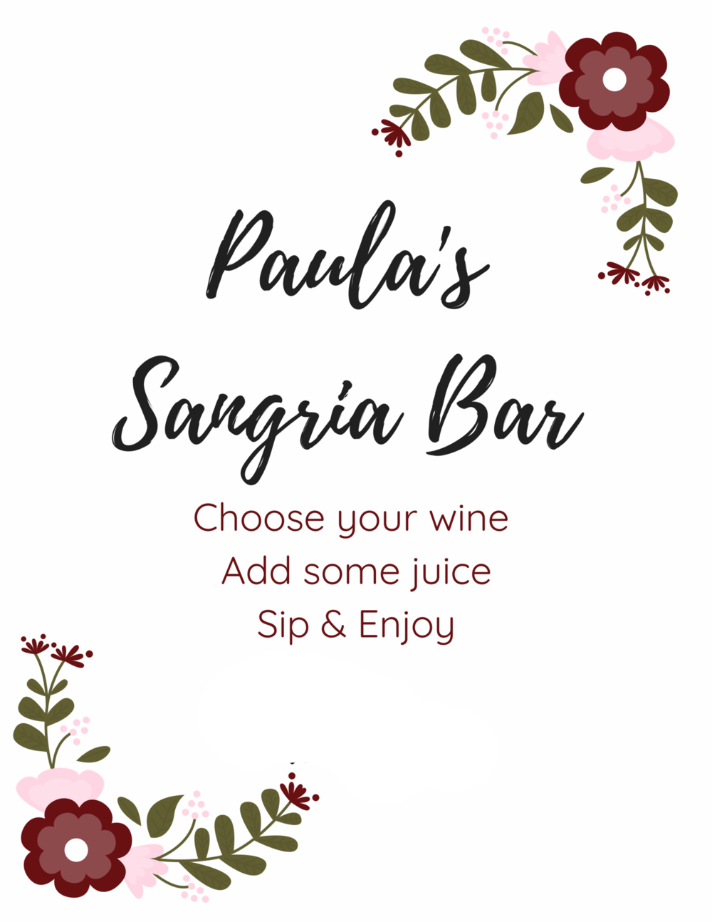 bachelorette party well with brielle wellwithbrielle.com sangria bar diy
