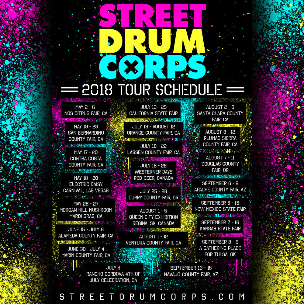 On TOUR! - Street drum corps is on the road this spring & Summer!Make sure sure to follow us on the