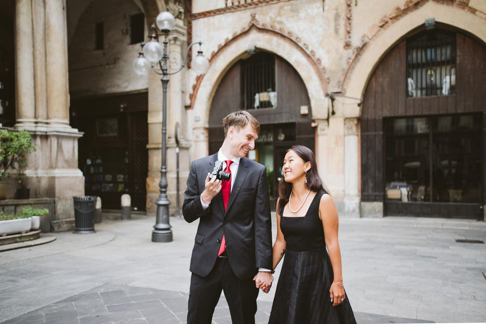 Milan honeymoon wedding photos