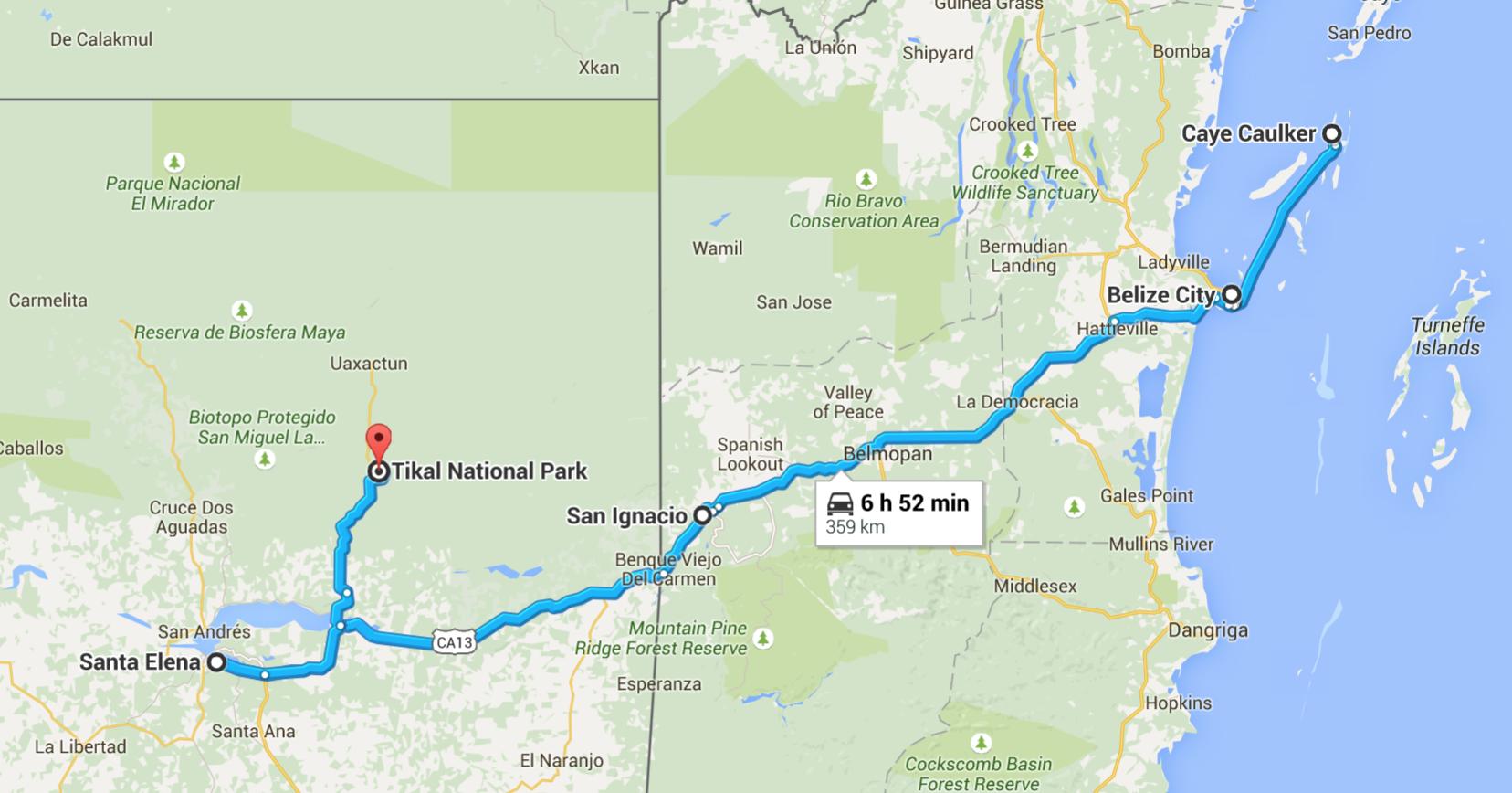 Belize Guatemala trip itinerary