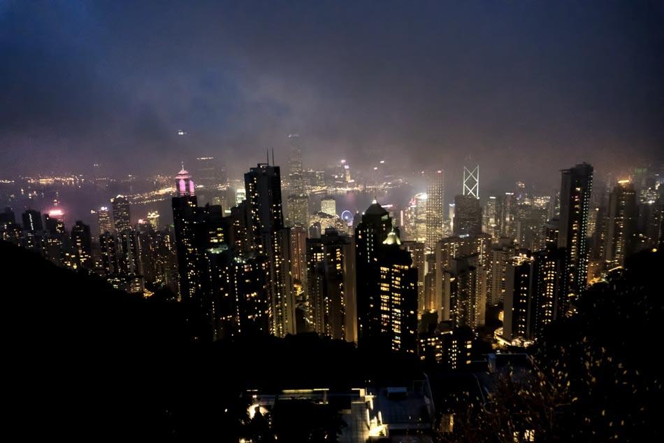 Victoria Peak Hong Kong skyline