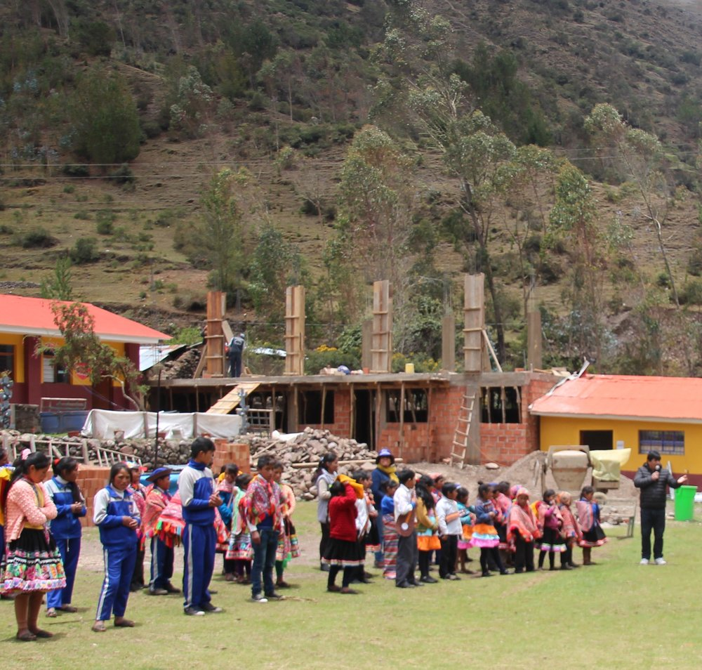 The school being built for these amazing kids. Andes Foundation helping these kids have a place to learn, grow, and become leaders.