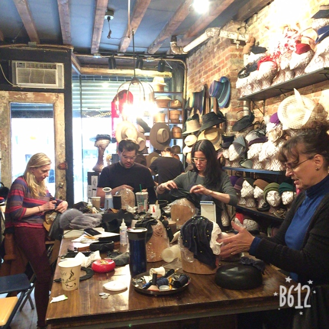NYC East Village Hats Learn to Sculpt and Freeform Leather Masterclass with Jaycow Millinery.JPG