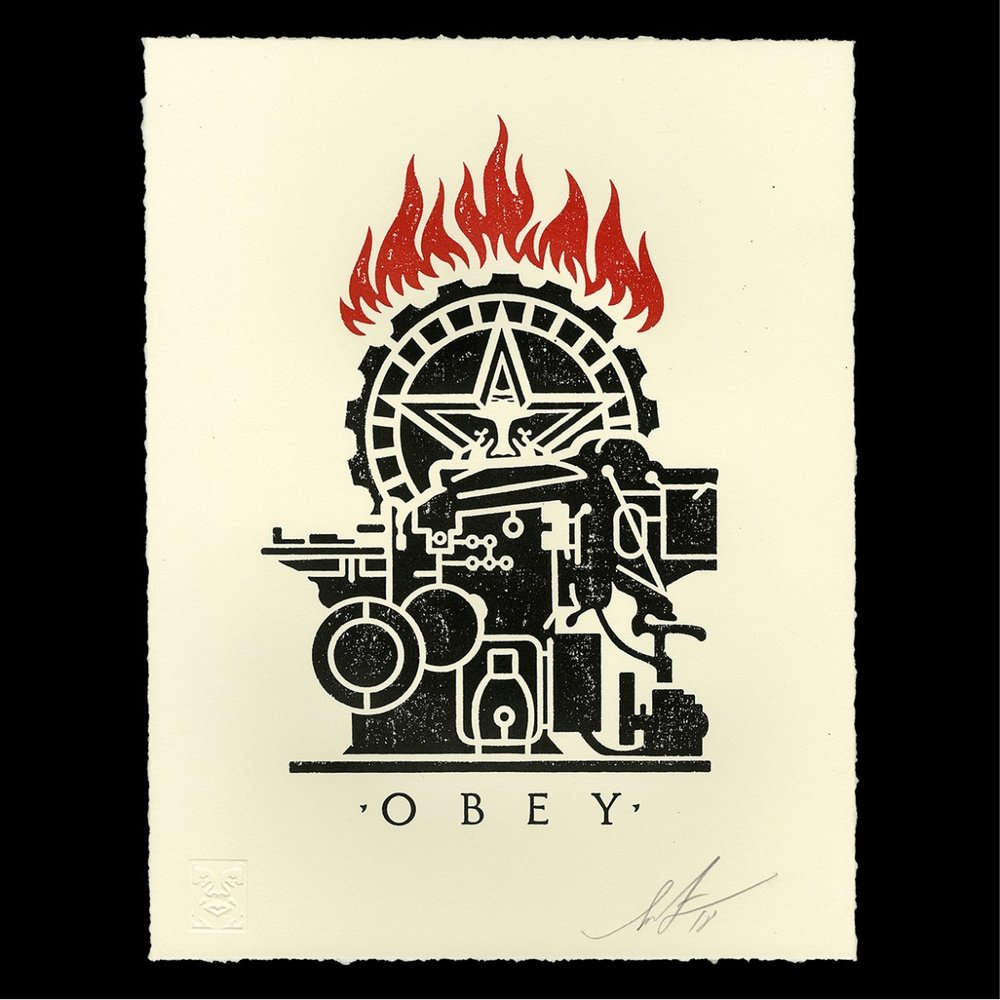 Obey Printing Press Letterpress, 2018
