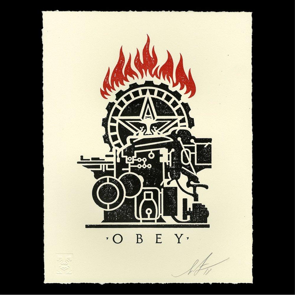 Obey Printing Press Letterpress, 2018