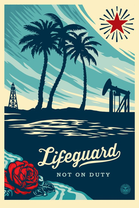 Obey Lifeguard not on Duty Signed Offset Poster