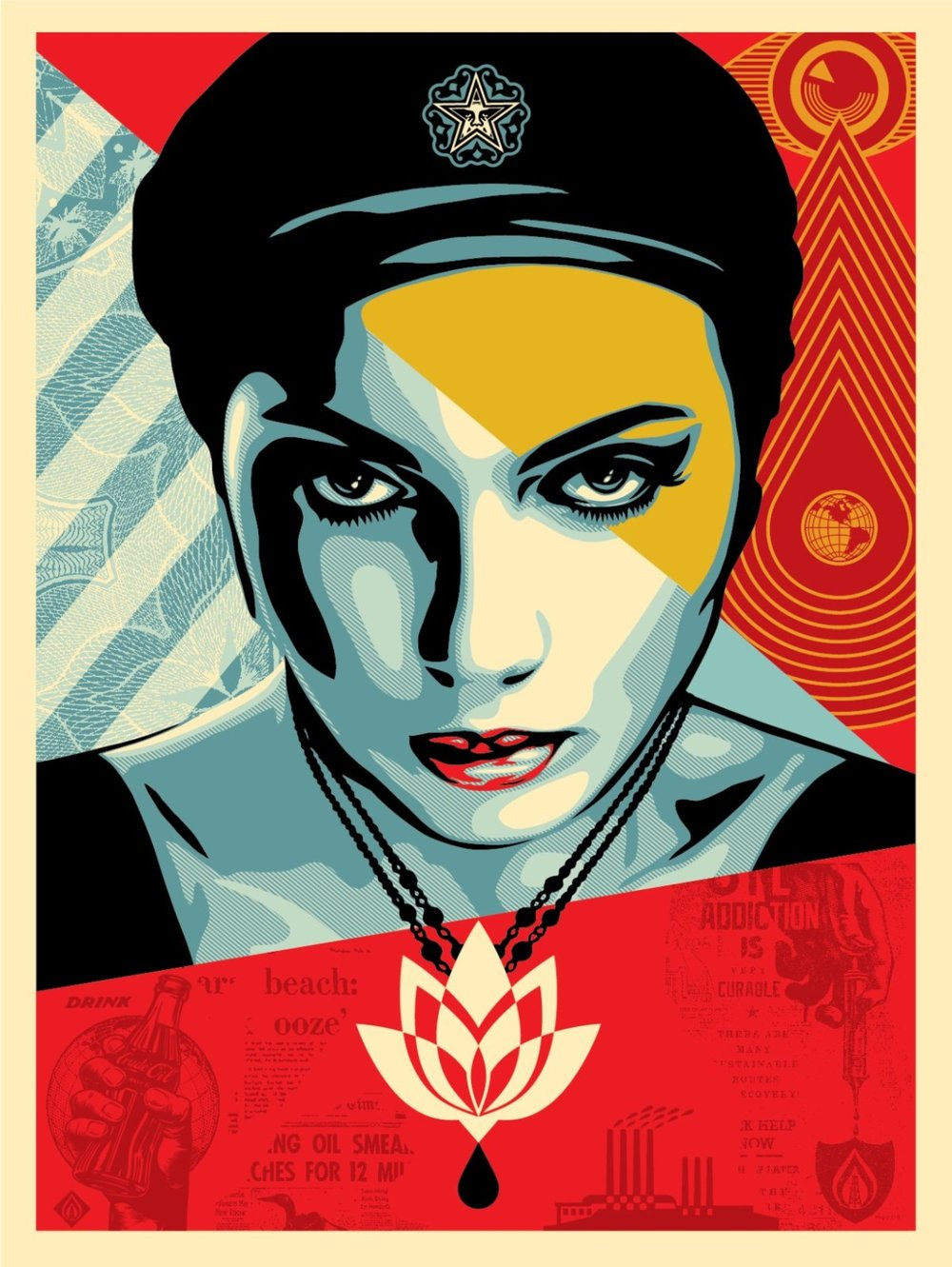 Obey Oil Lotus Woman