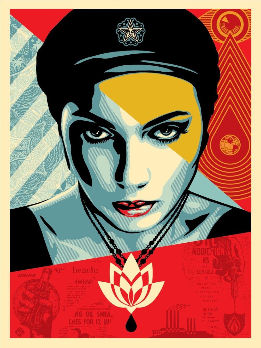 Obey Oil Lotus Woman