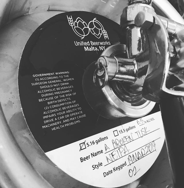 @unifiedbeerworks A Broken Tusk NEIPA on tap for fills!