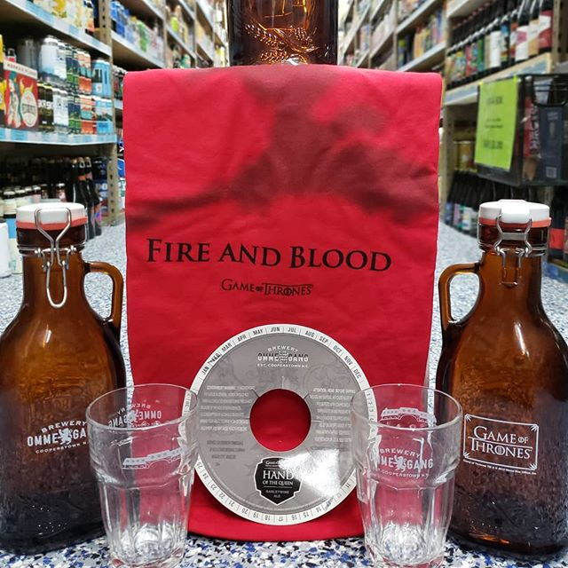 In preparation for the final season premiere of Game of Thrones, our friends @breweryommegang hooked us up with some sweet swag to give away. This Friday (4/12) we'll be tapping a couple GoT-inspired beers...grab a growler and you might just grab yourself a sweet prize too! #gameofthrones #breweryommegang #giveaway