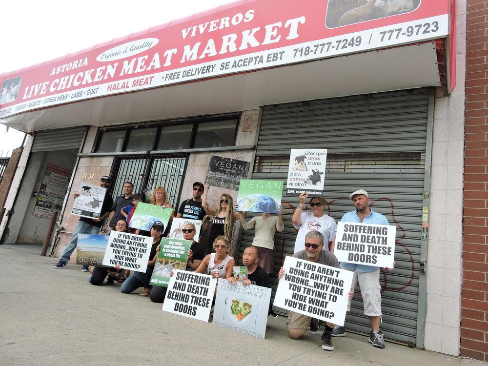 Vigil in Queens, NY