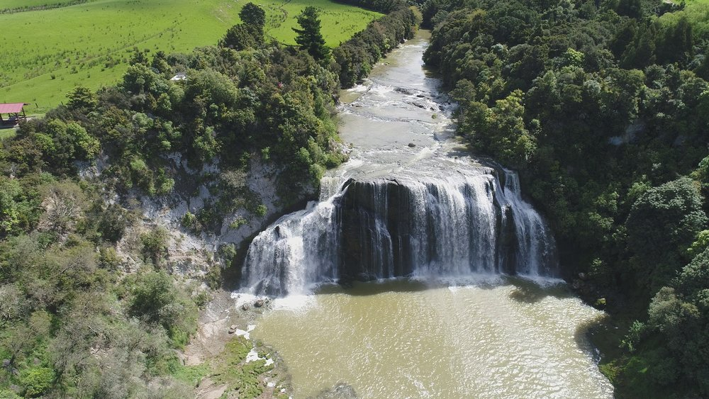 Drone Photo - Waihi Falls from up high and back 100m.JPG