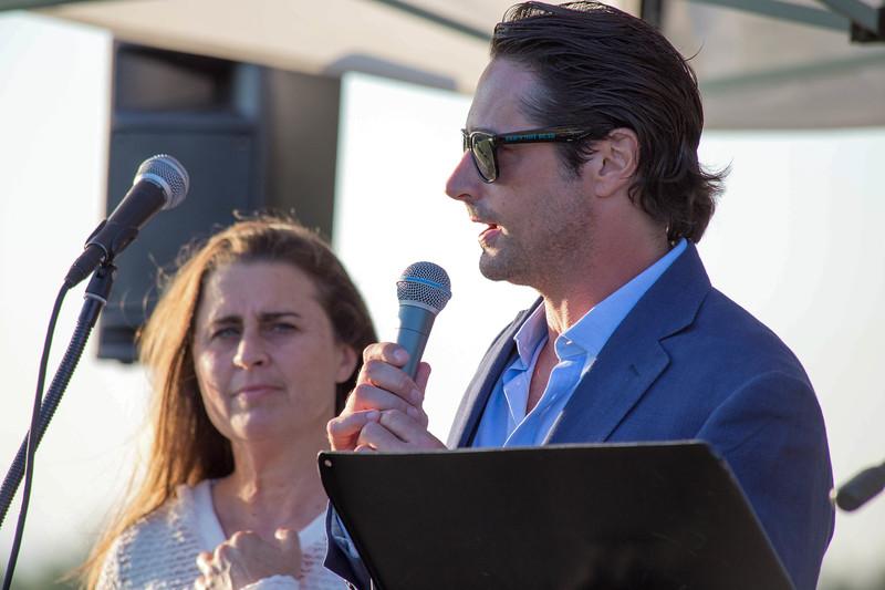 Prince Lorenzo Borghese and Karen Talbot of Animal Aid USA at Polo, Puppies and The Prince 2018.