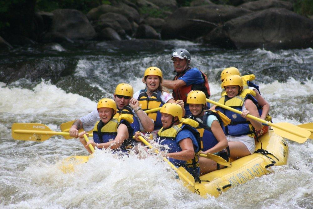 Whitewater rafting here -