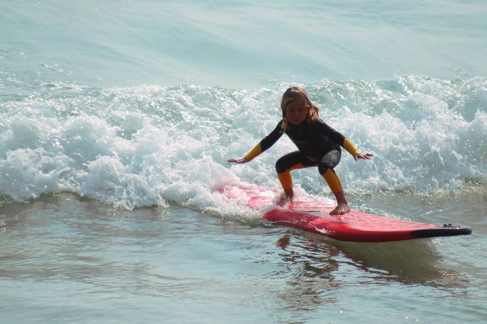 Surf lessons here -