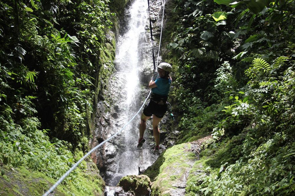 Waterfall rapelling here. -