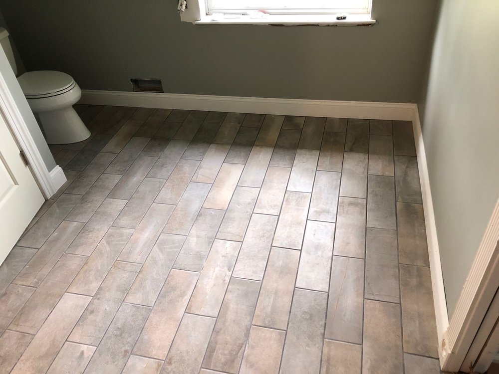 Elmer tile job and bathroom remodel