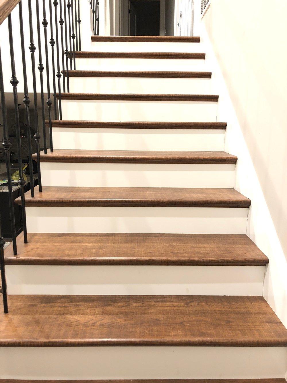 custom stain steps