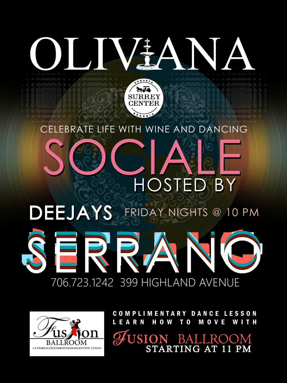 JOIN US ON FRIDAY NIGHTS AT OLIVIANA - Paco and his brother team up to share a blend of Latin and House music with all the dancers in mind.