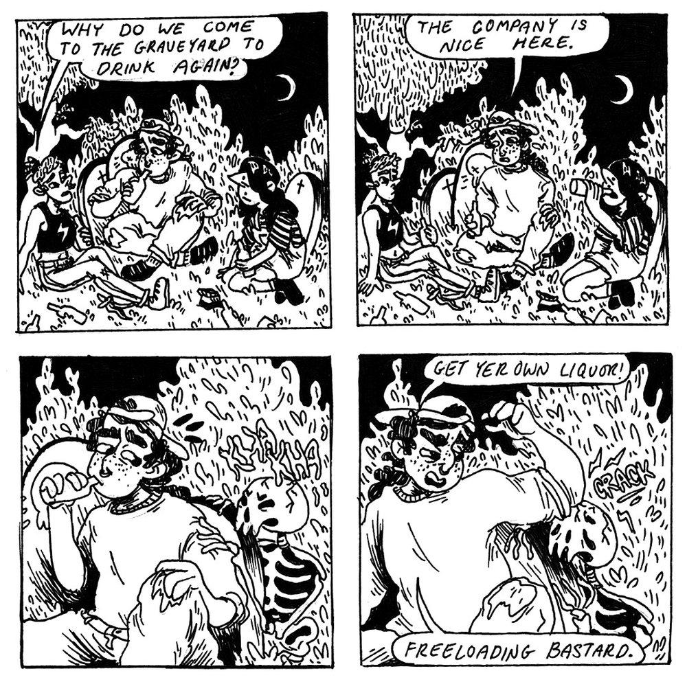Graveyard Comic