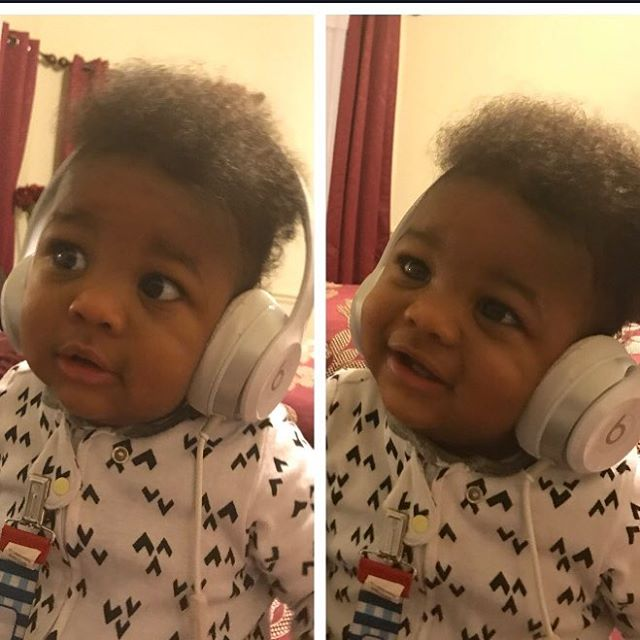 1st pic:  ummm, excuse me daddy, uhh, did you say this is my mommy singing on this song?!?!?! 2nd  pic: ok ok...I like it. I like it!!! This is niiiiice!  Lol 😂#musician #musiclovers #dallas #nashville #singer #musicismylife #austinmusic #newyorkmusic #babyboy #musicbaby #influencer #proudfamily #godisgood #❤️
