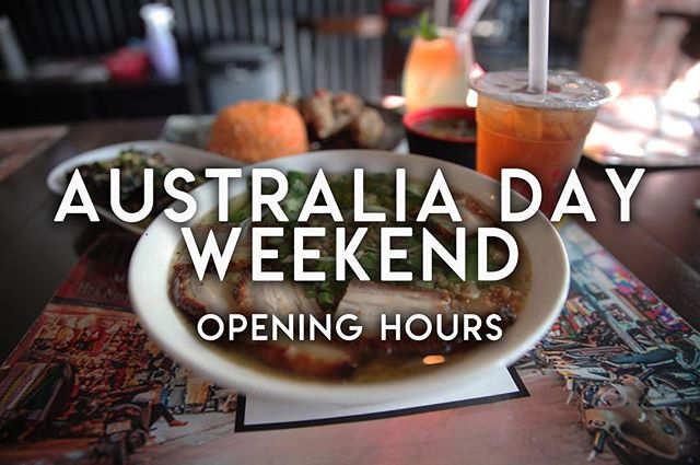 🇦🇺 The only thing better than a weekend is a long weekend! 🇦🇺 We will be open all weekend to keep the party rolling.  We will be closing on Monday the 28th, 4am - 12pm for a small siesta. Have a wonderful, safe long weekend! . . . . . . . . . #food #foodporn #bubbletea #melbourne #melbournefood #foodblogger #broadsheetmelb #pho #vietnamesefood #cocktails #melbourneeats #foodie #yum #foodgasm #melbourneblogger #twentyphoseven